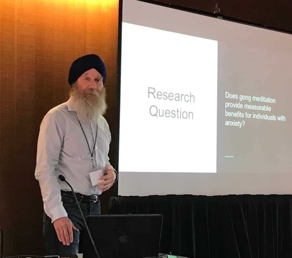 Karambir Singh Khalsa speaking at the International Transpersonal Conference 2019
